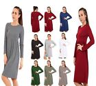 NEW LADIES  FRANKIE SWING DRESS LONG SLEEVE MIDI DRESS