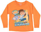 Nickelodeon Go Diego Save the Dinosaurs Long Sleeve T-Shirt Tee Top Kids Orange