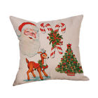Cotton Linen Christmas Xmas Socks Pillow Case Throw Cushion Cover Home Decor