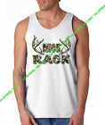 MOSSY OAK NICE RACK Tank Top shirt camo hunting camping funny tits beast cancer