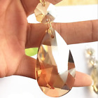 50mm Clear Amber Cognac  Suncatcher Crystal Prisms Crystal Chandelier Parts