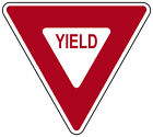 YIELD TRAFFIC HIGHWAY SIGN VINLY DECAL STICKER MULTIPLE SIZES TO CHOOSE FROM
