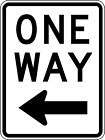***LEFT ONE WAY VINLY HIGHWAY DECAL STICKER MULTIPLE SIZES TO CHOOSE FROM***