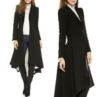 Vintage Womens Steampunk Swallow Tail Goth Long Trench Coat Jacket Blazer Size