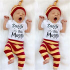 harry potter baby - Harry Potter Newborn Baby Hat Bodysuits+Pants Set Romper Clothes Outfits Costume