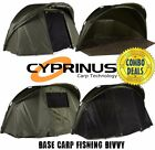 Cyprinus Base Bivvy 1 & 2 man Pram Hood Carp Fishing Bivvy shelter WITH OVERWRAP