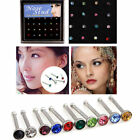 Charm Hot Women Sexy Steel Rhinestone Bone Jewelry Nose 24X316L Rings In Bulk