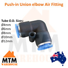 Push in Air Fitting Equal Union Elbow Pneumatic Systems Compressor PU PE Tube