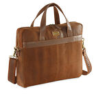 """MEN CRACKLE DISTRESED LEATHER LAPTOP BAG FITS 14""""-15.6"""" BY HYDESTYLE UM45 RRP£99"""