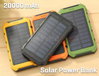 US 20000mAh Solar Power Bank 2 USB LED Outer Battery Charger For Cell Phone
