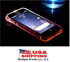 USA LED Flash Lighting Armor TPU Case Clear Incoming Call Cover For iPhone 7/8/X