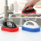Kitchen Bathroom Sponge Brush Handle Strong Scouring Gadget Wipe Cleaning Tool