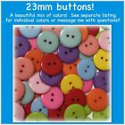 23mm Buttons Plastic Red White Black Pink Blue Green Sewing 2 hole large buttons