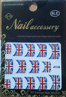 FLAG DESIGN 3D NAIL ART STICKERS - SUPPORT YOUR COUNTRY/TEAM, FANCY DRESS, PARTY