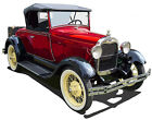 Ford Model A Roadster canvas art print by Richard Browne green red or blue