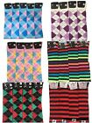 LADIES OVER KNEE HIGH EQUESTRIAN HORSE RIDING MULTI DESIGN SOCKS BRIGHT COLOURS