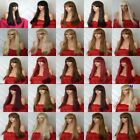 Fashion Women Long Hair Full Natural Straight Fringe Synthetic Hair Wigs - N wig