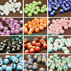 NEW 30pcs 6mm Round Ceramic Charms Loose Spacer Beads DIY Jewelry Findings