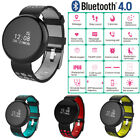 Wasserdichte Bluetooth Blutdruck Tracker Pulsmesser Smart Armbanduhr for Android