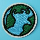 Earth Sun Moon Iron Sew on Applique Badge Embroidered Motif Cute Island Weather