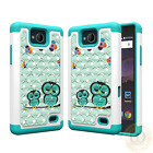 For ZTE Majesty Pro Case Bling Diamond Defender (PC+Silicone) Hybrid Phone Cover