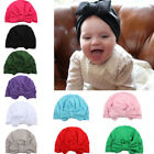 Newborn Toddler Kids Baby Boy Girl Turban Beanie Hat Warm Bownot Cap
