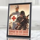 American+Red+Cross+Propaganda+Poster+-+Support+the+Red+Cross+Vintage+War+Poster