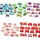 Rhinestone Bowknot Hair Bows Rubber Bands For Pet Dog Cat Grooming Accessories