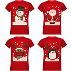 MEN'S WOMEN'S LADIES UNISEX CHRISTMAS NOVELTY PENGUIN SANTA T-SHIRT TOP UK S-XXL