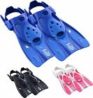 Tusa Strap Fins Flippers  - Short Blade Max Performance - Easy Travel