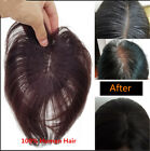 Clip In Mono Bang 100% Remy Human Hair Topper Piece toupee for Thinning Hair