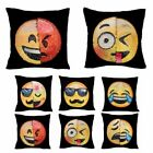 Funny Two Sides Pillow Cover Smile