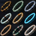 """5x8mm Natural Gemstone Faceted Rondelle Beads Bracelets Jewelry 7"""" 7.5"""" 8.5"""""""