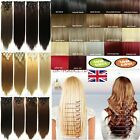 Sale 8Pcs Long Curly Straight Full head clip in on hair extensions 60 Colors