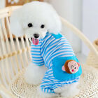 Cute Puppy Dog Stripes Jumpsuit Pajamas T shirt Pet Apparel Costume Sleepwear