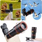 8x 12x Optical Zoom Lens Telescope Telephoto Clip on For iPhone X 8 7 6 6S Plus