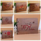 8inch 16inch Baby Lovers Wood Cover Photo Album Memory DIY Photos Book Wooden