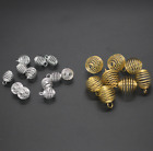 Wholesale 10PCS Gold Sliver Spiral Bead Cages Pendants Findings Jewelry Making