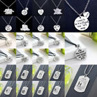 Charm Necklace Pendant Jewelry Pet Dog Paw Family Teacher Mom Dad Son Daughter
