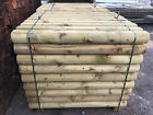 1.2m GREEN Railway/Garden MACHINE ROUNDED SLEEPERS-  Landscaping - DELIVERED