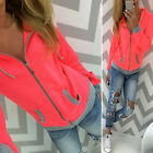 Damen Sweatjacke Jacken Winter Hoodies Kapuze Mantel Freizeit Fitness Damenjacke