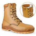 SIZE 7 8 9 10 10.5 TALL LACE UP BROWN JALLATTE SAFETY WORK BOOTS JALOSBERN WINTE