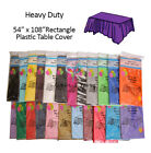 """(12-pack)Plastic Table Covers 54x108"""" Rectangle TABLECLOTH(Reusable)in 22 colors"""