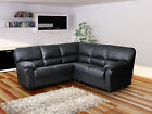 Faux Leather Candy Modern Corner 4 Seater Sofa Black Brown Cream Red White Suite