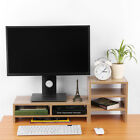 Computer Monitor Riser Desk Table LED TV Stand Shelf Desktop Laptop Organizer US