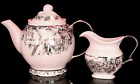 7 Piece 222 Fifth Adelaide Tea Cups and Saucers Teapot Creamer Canister