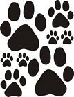 """16 Dog paw print window wall door car stickers 21 colours 3 sizes-5.7"""" 3.1"""" 1.6"""""""