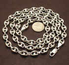 8mm Puffed Gucci Mariner Link Chain Necklace Anti-Tarnish Real Sterling Silver