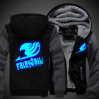 Winter Jacket Sweatshirts Thicken Hoodie Coat Luminous Anime Fairy Tail Cosplay