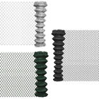 vidaXL Outdoor Garden Chain Link Fence Fencing Roll Steel Multi Sizes 3 Colours